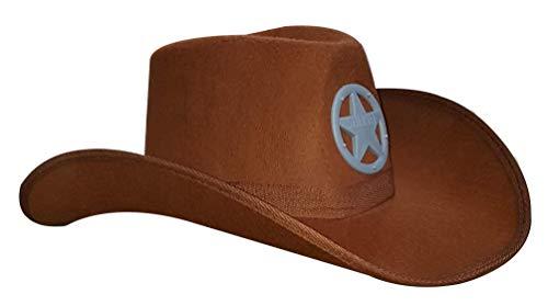 Dress Up America Cowboy Sheriff Hut - Brown Cowboy Hut für Kinder - Western Style Hut für Kinder