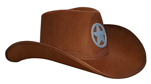 Dress Up America Sheriff Cowchico marrón Hat
