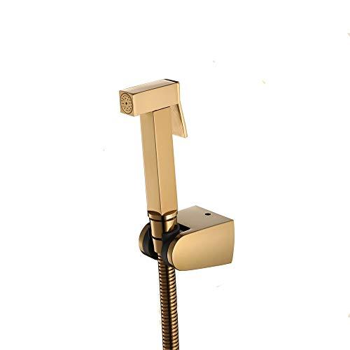 Big Save! Gold Bidet Sprayer Brass Handheld Bathroom Shower Set Single Cold Water Toilet Sprayer Squ...