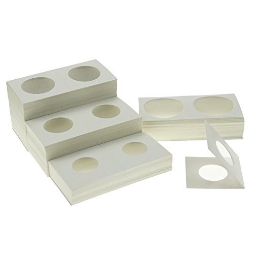 Coin Flips 2×2 Cardboard Coin Collecting Holders for Coin Collection Supplies, 4 Sizes Coin Flips Assorted, 200 Counts…