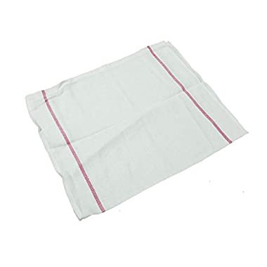 Kitchen Basics 31505 Herringbone Towel, 21 oz., 15  x 26 , Red Stripe (Pack of 12)