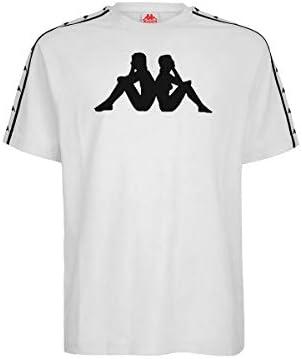 Kappa Homme Authentique Courlis à encolure ras-du-Cou T Shirt Tee Shirts Top Tops Blanc