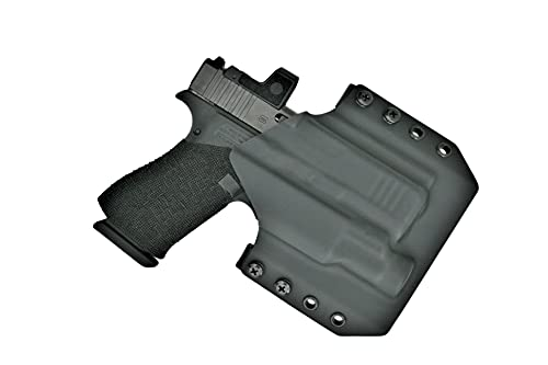 OWB Kydex Holster for Glock 43X MOS with TLR-7 SUB | Outside The Waistband Holster Compatible with Glock 43X MOS with Streamlight TLR-7 SUB