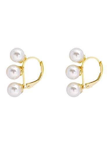 Eenvoudige temperament imitatie parel oorbellen Franse retro niche ontwerp geen piercings oorbellen vrouwelijk