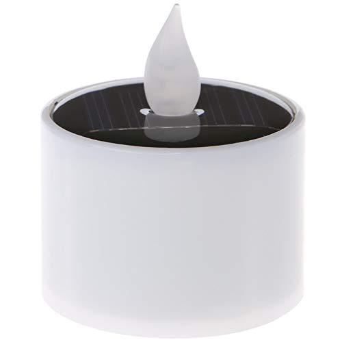 Bougie à LED 1pc Solaire Alimenté Led Bougie Lumière Jaune Scintillement Lampe À Thé Festival Mariage Décor Romantique