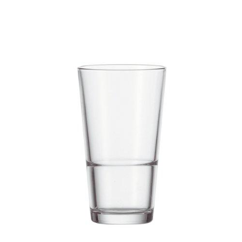 Leonardo Event Trink-Gläser, 12er Set, spülmaschinenfeste Longdrink-Gläser, Trink-Becher aus Glas im klassischen Stil, Getränke-Set, 12 Stück, 315 ml, 061700