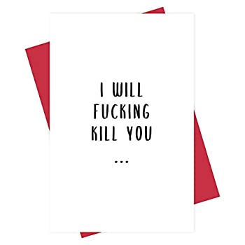 Funny Love Gun Card Naughty Anniversary Card for Girlfriend Wife Adult Cheeky Love Card for Her