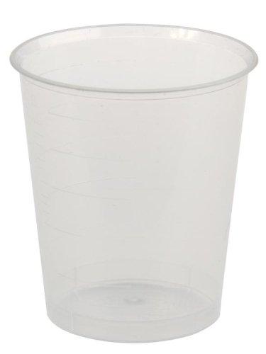 Medicijnbekerset: beker 30 ml 80 stuks transparant + 80 stuks deksel wit voor innembeker Medicijnbeker borrelglaasjes