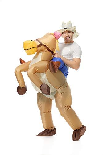EONPOW Aufblasbares Kostüm Halloween Cosplay Party Cowboy Fasching Karneval Erwachsene Kostüme