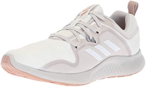 adidas Women's Edgebounce Mid Running Shoe, White/Grey/ash Pearl, 10 M US