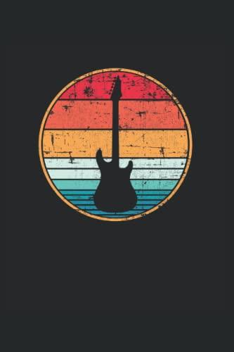 Guitarra eléctrica retro Guitarrista: Cuaderno   Cuadriculado   A cuadros (6 'x9' (15,24 x 22,86 cm)), 120 páginas, papel crema, cubierta mate