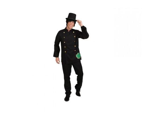 ORLOB KARNEVAL GmbH Disfraz de barrendero de la Chimenea Traje de Hombre Negro Carnaval de Lucky Charm (54/56)