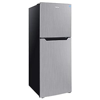 TACKLIFE 7.0 Cu.Ft Refrigerator, No Frost, Top-Freezer Refrigerator, With Big Crisper Drawer, Energy Star Certified, Low Noise, 2 Door Apartment Size Fridge, Stainless Steel Silver - HVSFR700
