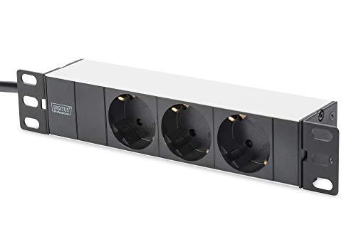 DIGITUS Professional DN-95411 Steckdosenleiste 3-fach ohne Schalter schwarz