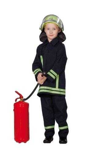 Rubie's 1 2629 128 - Feuerwehrmann Kostüm, 2-teilig, Größe 128