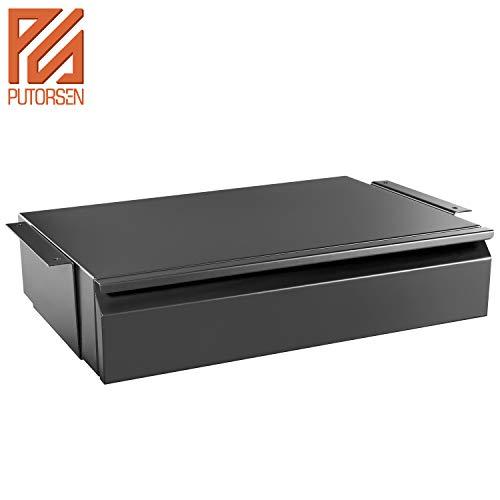 PUTORSEN® Platz sparend unter Schreibtisch schublade, Stahlkonstruktion, Schwarz