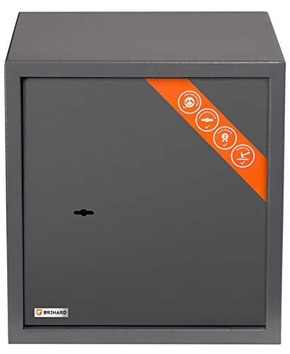 Brihard Gewerbe Safe mit Doppelbartschloss - 40x36x36cm 50L Sicherheitstresor mit herausnehmbarem Regal - Doppelter Stahlrahmen - Büro Sicherheit Safe