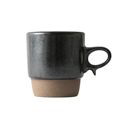Hasami Ware Mug - Black Japanese Pottery Ceramic Scissor Handle Easy to Hold