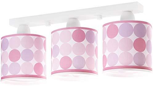 Dalber Colors - Lámpara colgante, 3 luces, color rosa