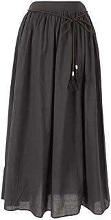 [ティティベイト] タッセルベルト付きコットンギャザースカート ATXP1959