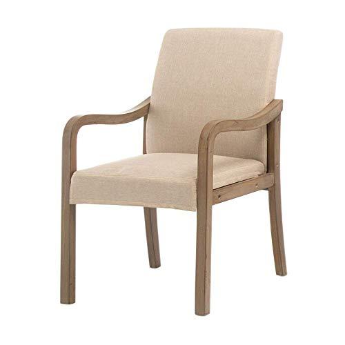 YLCJ stoelen stoelen, huis van massief hout met rugleuning leuning moderne eetkamerstoel eenvoudige werkstoel in Scandinavische stijl stoel hotelrestaurantstoel (kleur: Engels) Cachi