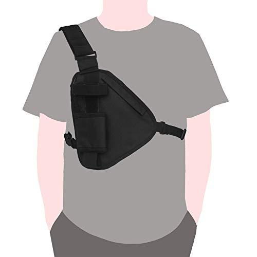 Leezo Men Women Chest Rig Bag Hip Hop Streetwear Brusttasche Crossbody-Umhängetasche Verstellbare Hüfttasche, Outdoor-Walkie-Talkie-Anruferpaket, Brusttasche