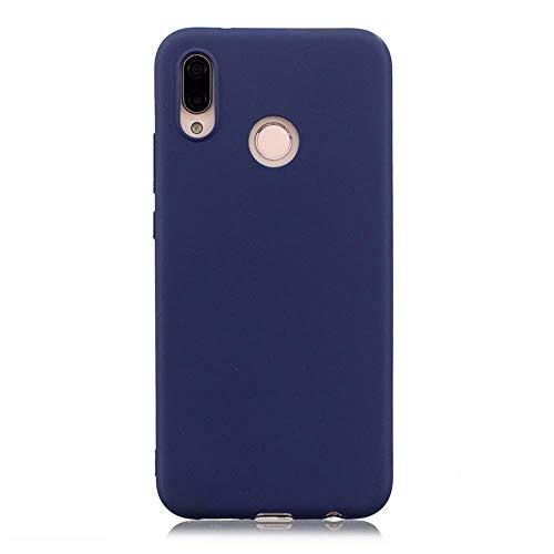 LIANLI Candy Macaron - Carcasa para Xiaomi Pocophone F1 Mi A1 A2 Lite 5X 8 SE 6X Redmi 4A 4X Note 4 5A 5 Plus 6 Pro 6A S2 Soft Cases (Color: Azul Oscuro, Tamaño: Redmi Note 4X 64 GB)