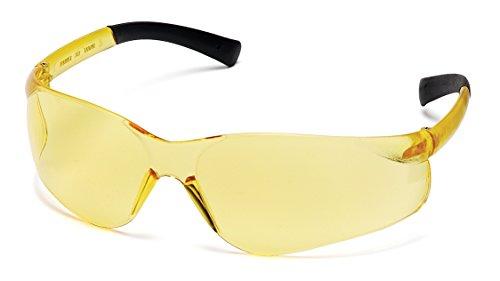 Pyramex Ztek Safety Glasses, Amber Frame/Amber Lens
