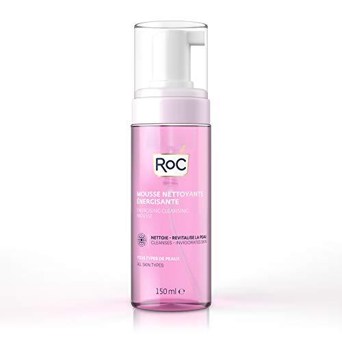 RoC - Mousse Detergente Energizzante - Detergente Viso - Pulisce e Tonifica la Pelle - Riduce al Minimo i Rischi di Allergia - 150 ml