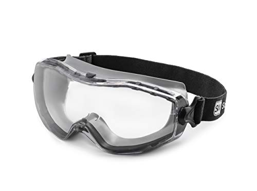 SolidWork Safety Goggles with Universal Fit   Eye Protective Safety Glasses for Construction Work   Scratch Resistant Goggle with UV-Protection and Anti-Fog   For Men & Women   Clear Lens   Grey