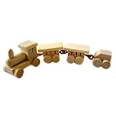 CREATIV DISCOUNT ® Creative Miniatur Deko-Zug, 4tlg
