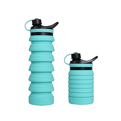 BOBEastal Collapsible Water Bottle, Reusable Silicone Water Bottle for Travel, Leak Proof Water Bottle for Outdoor Gym Camping Hiking, 27oz