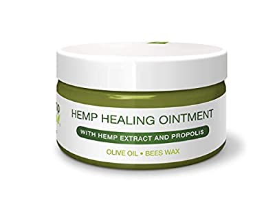 Premium Hemp Healing Skin Ointment for Eczema Psoriasis - for Dry, Irritated Skin, Itch Relief, Dermatitis, Rosacea | Natural Propolis-Beeswax, Hemp Extract, Virgin Olive Oil, Lavender 3.4 Oz by Hemp For Help llc