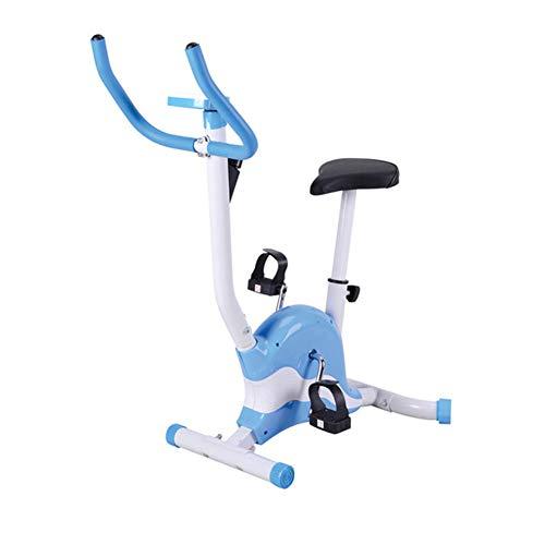 LSYOA Bicicleta Estática, Correa Indoor Bicicleta, Bicicleta Spinning con Pantalla LCD cómodo Amortiguador de Asiento Carga 150 kg,Blue