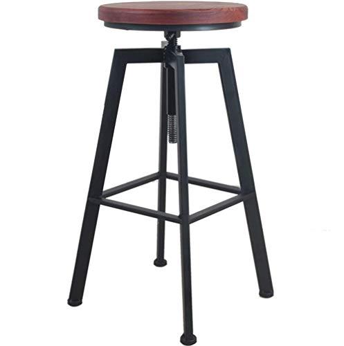 Taburetes de bar de hierro Respaldo clásico Taburetes altos Silla giratoria Elevadores Mesa de comedor y sillas de madera maciza