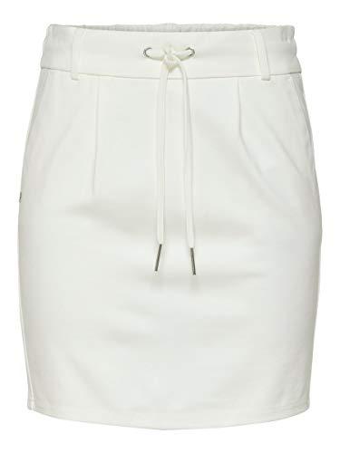 ONLY Damen Onlpoptrash Easy Skirt Pnt Noos Rock, Cloud Dancer, S EU