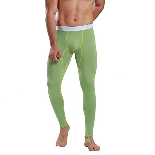 DESMIIT Mens Thermal Modal&Cotton Long Johns Winter Underwear Green Asian L