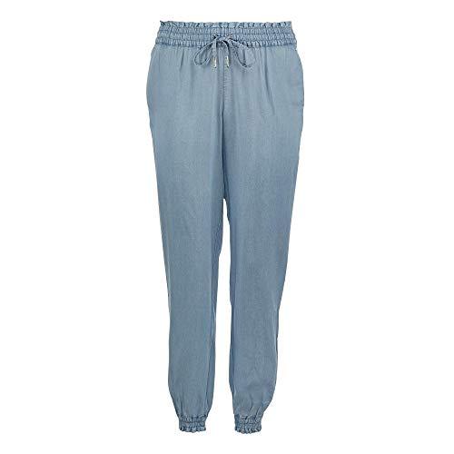 TOM TAILOR Denim Damen Harem Freizeithose Jeans, Blau (10118-Used Light Stone Blu), L