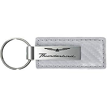 INC Au-Tomotive Gold Ford Thunderbird Black Leather Chrome Car Fob Key Chain Ring