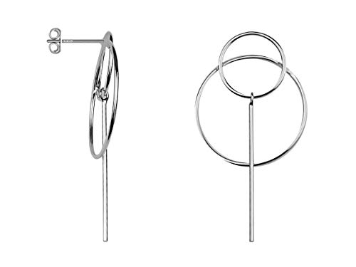 SOFIA MILANI - Damen Ohrringe 925 Silber - Ohrstecker als Kreis Stab - 20627