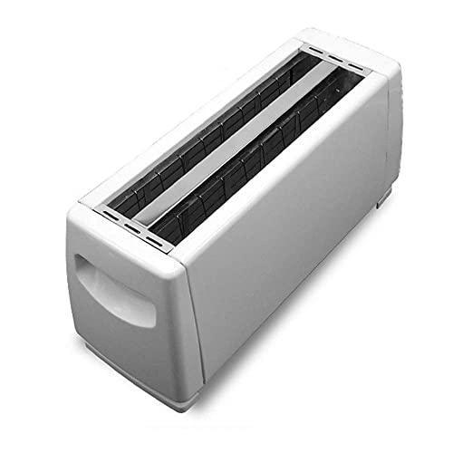 Ranura automática de 4 rebanadas larga, interruptor de la perilla de seis posiciones, muesca súper ancha de 25 mm, con una palanca de elevación alta, utilizada para sándwiches y panecillos, blanco. ZH