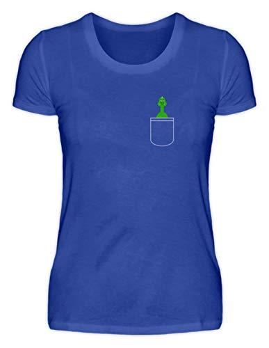 Generieke zoete groene griesgramige dino in de tas - Pocket Design - Damesshirt