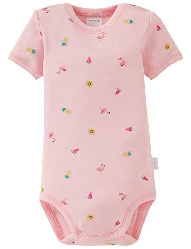 Schiesser Baby-Mädchen Body 1/2 Strampler, Rot (Rosé 506), 80 (Herstellergröße: 080)