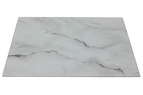 Glass Cutting Board by Clever Chef | Non Slip Cutting Board is Shatter-Resistant, Durable, Stain Resistant, Dishwasher Safe | 12' x 15.75', Glass Marble Pattern