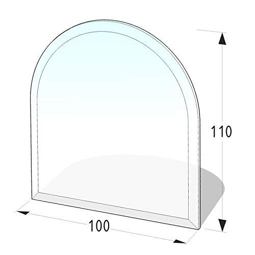 Lienbacher® - 21.02.885.2 - Funkenschutzplatte für Kaminofen - Glasplatte 8 mm (Zunge 3) - mit Facette, klar