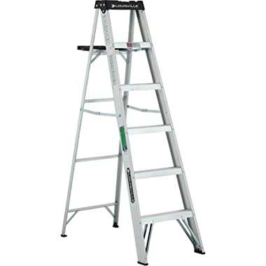 Louisville Ladder 6 ft. Lightweight Aluminum Step Ladder, Type II, 225 lbs Load Capacity, W-2213-06S