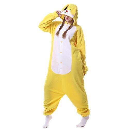 FZH Pijama Tortuga Kigurumis Animal Onesie Adulto Unisex Pijama de Tortuga Verde en General Mujeres Ropa de Dormir Divertida Festival Halloween Carnaval Traje-Conejo Amarillo_SG