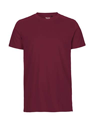 -Neutral- T-Shirt, 100{e2e485bc849c4d129650bb08582a6e6a7da267c19ff20de762c6f647fbacb653} Bio-Baumwolle. Fairtrade, Oeko-Tex und Ecolabel Zertifiziert, Textilfarbe: Bordeaux, Gr.: XL