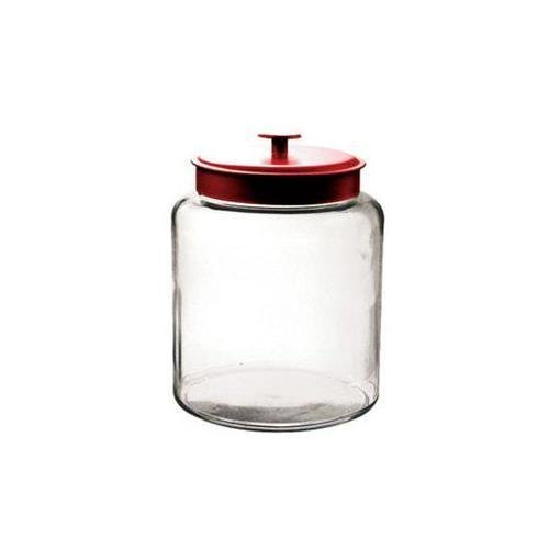 Anchor Hocking 94595 2-gal Montana Jar with Red Metal Cover