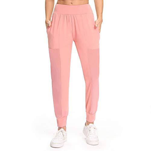 WOWENY Pantalones Chandal Mujer Casuals Gasa de Red de Deportivos Yoga Jogger Pantalon Sweatpants con Bolsillos Primavera Verano